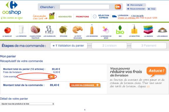 code promo carrefour drive montrond