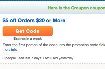 promo code not working groupon