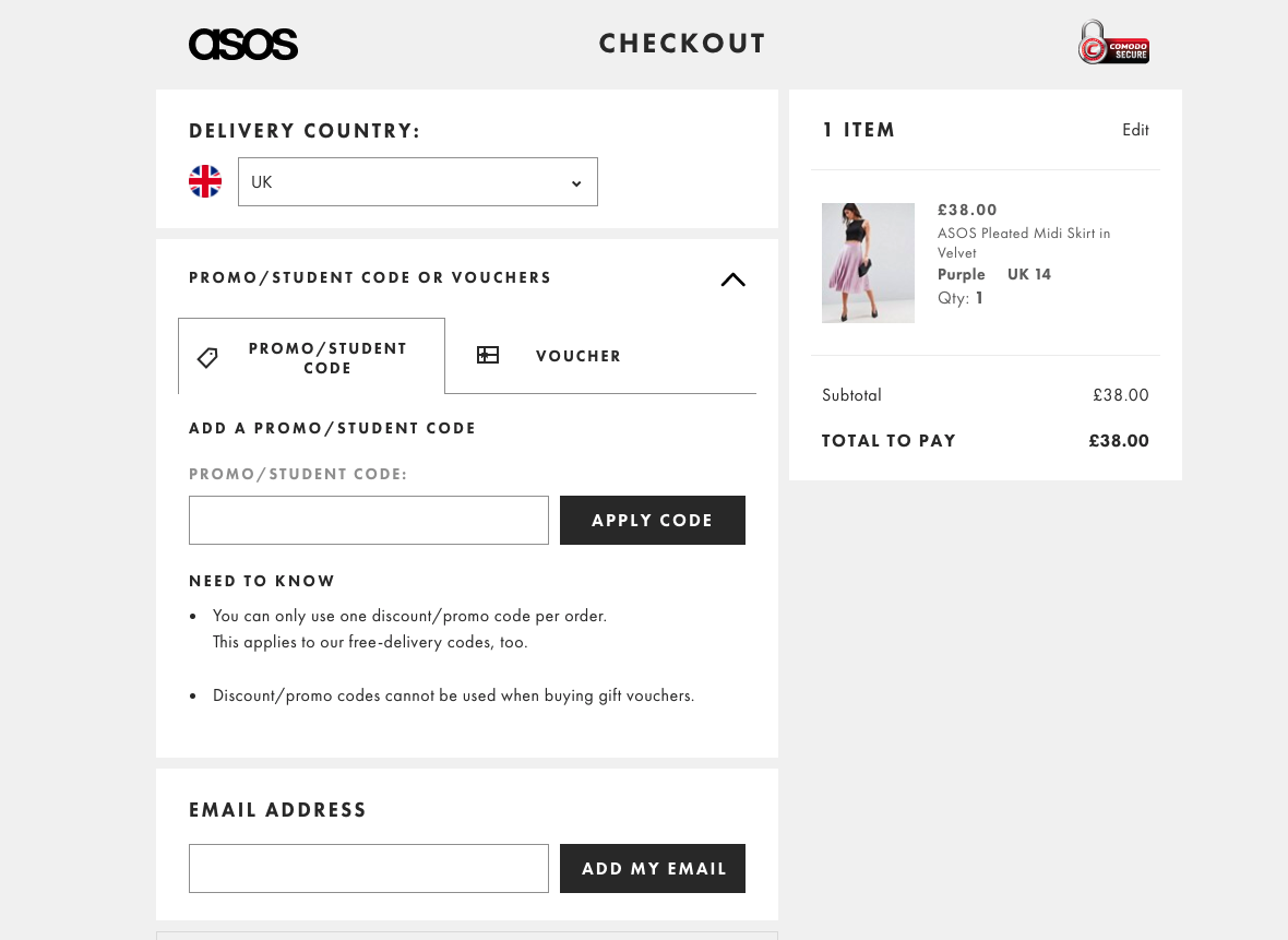 promo code with asos