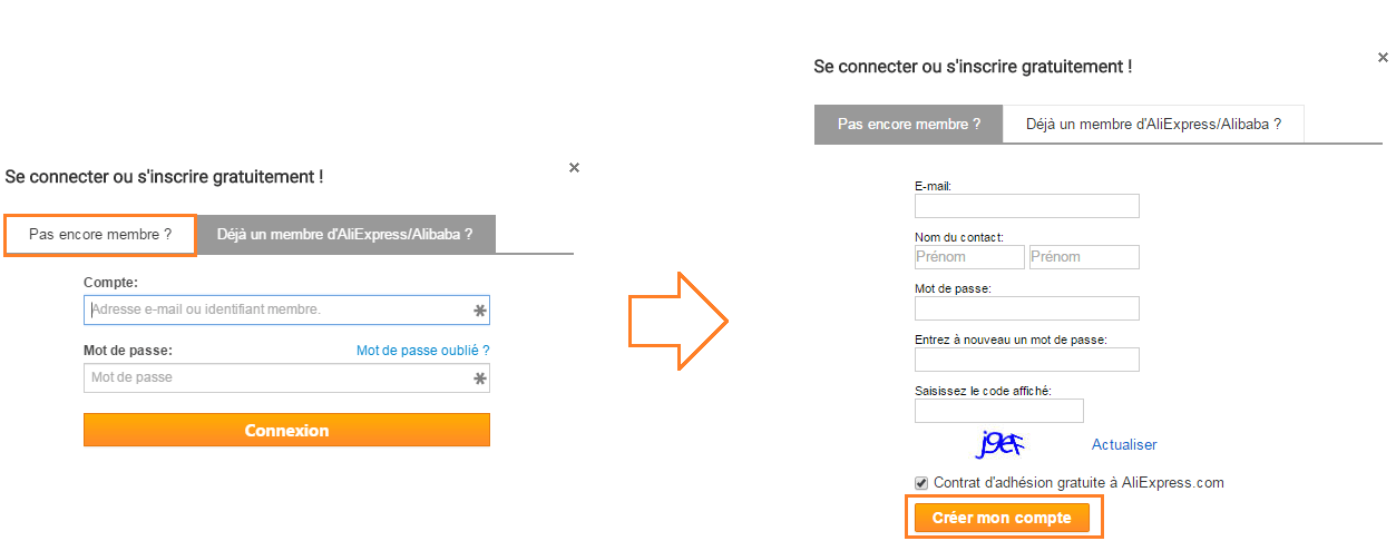 code reduction sur aliexpress