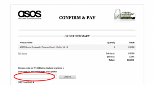 asos promo code worldwide