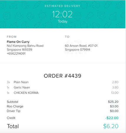 promotion code for deliveroo singapore