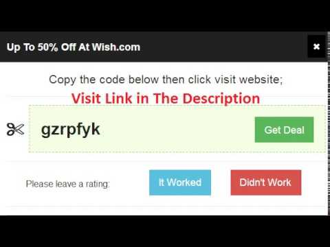 how to get promo code in wish