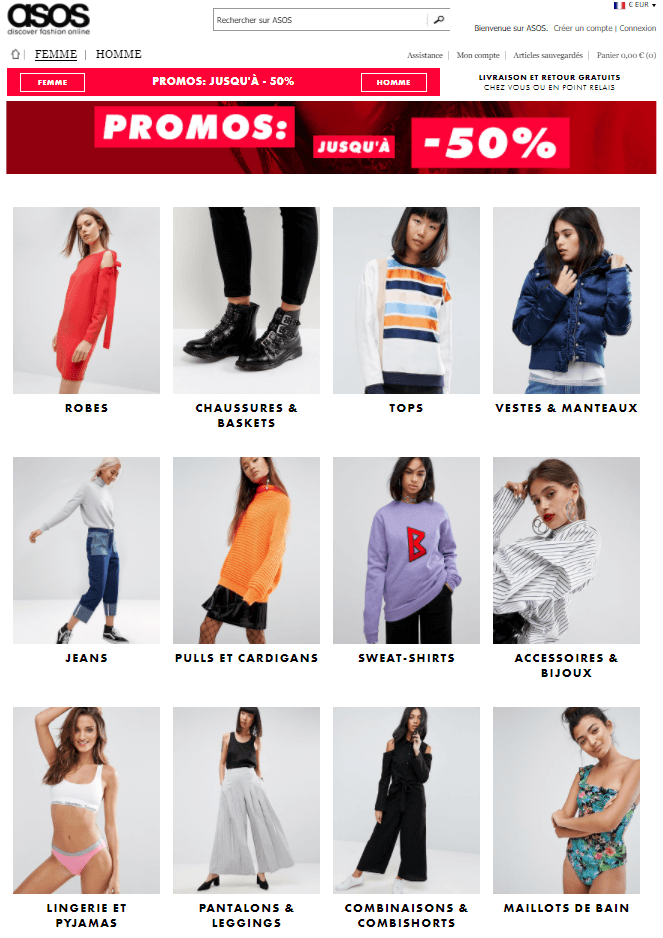 code reduction asos france