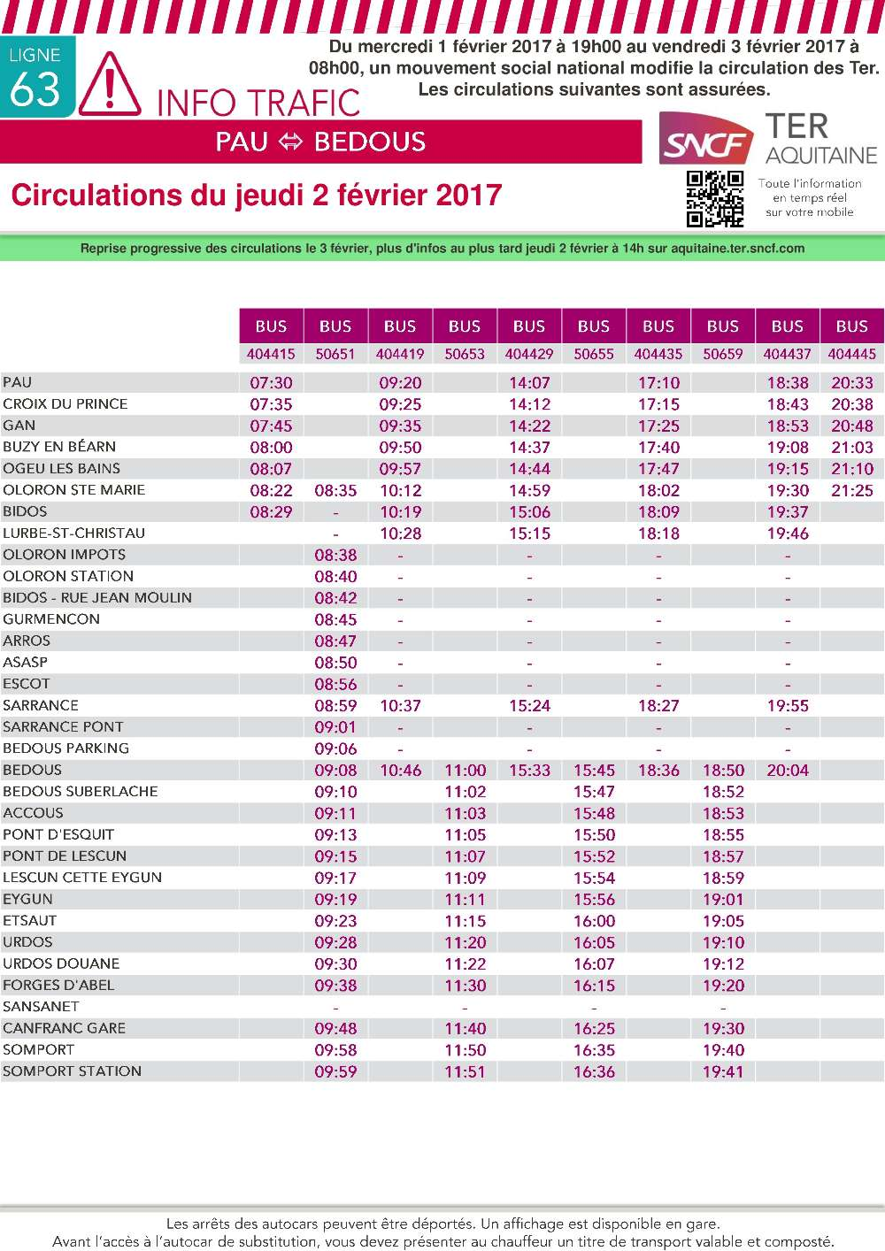 horaire sncf